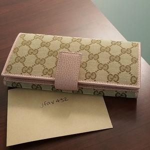 Brand New Gucci Jacquard Long Wallet